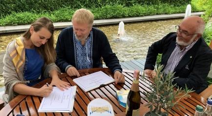 Malin Strasding, Dirk Lustig and Hansrudi Moser